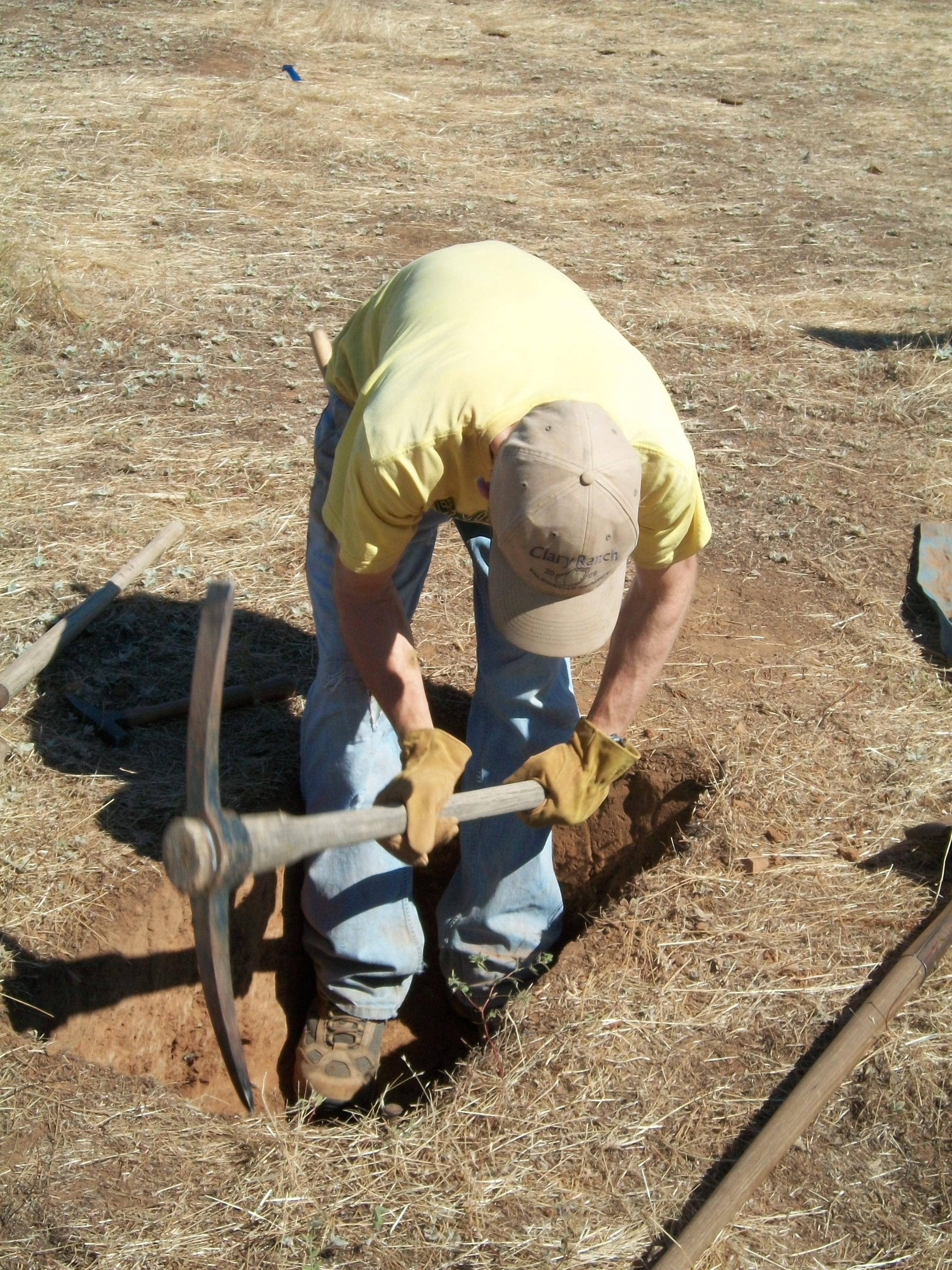 John Excavates at CA-MRP-1881