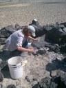 Excavation in prehistoric hunting blind