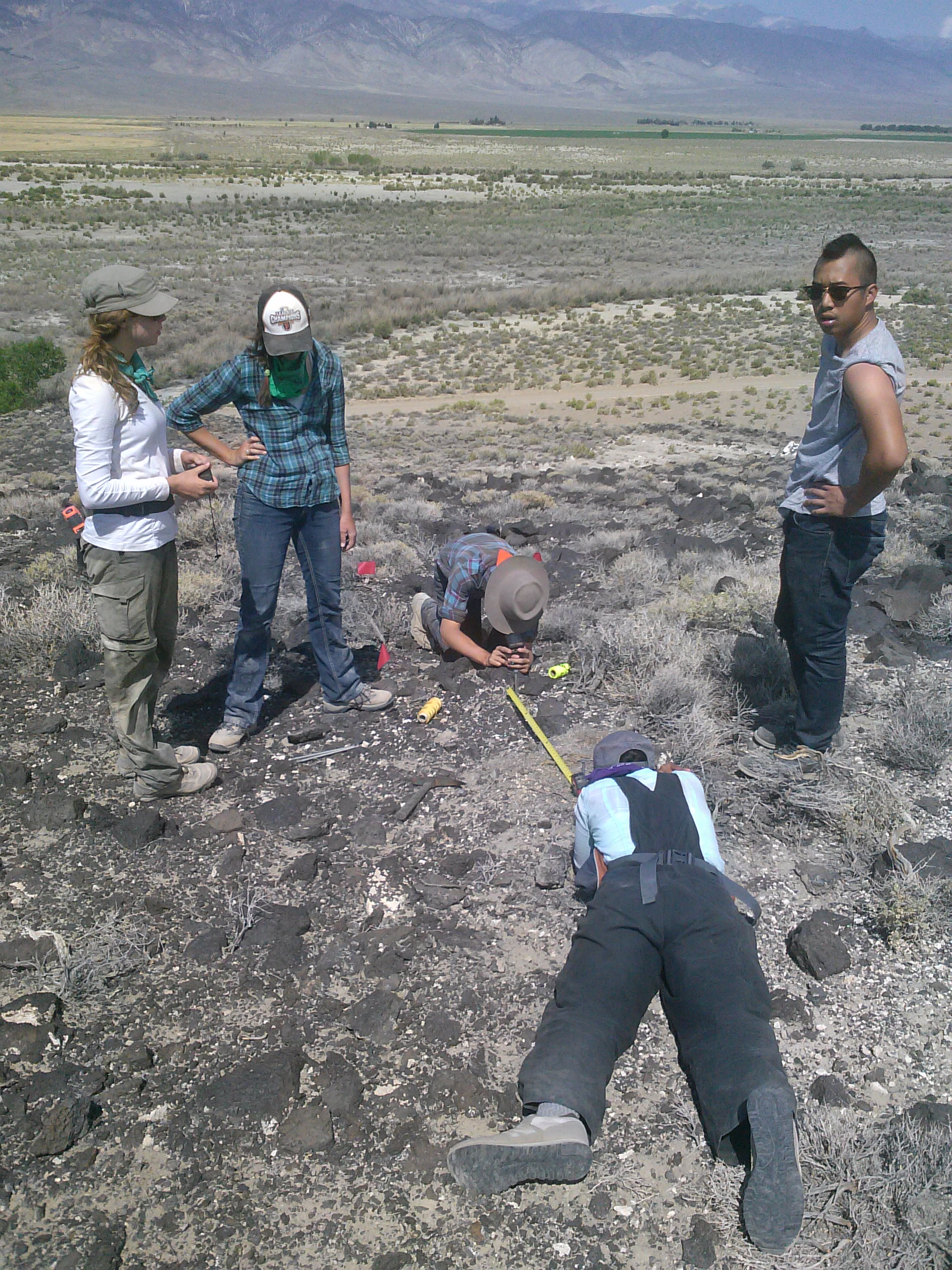 Setting up an excavation unit