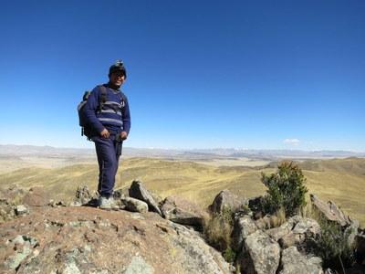 Dani on top of Quenariri Mountain.