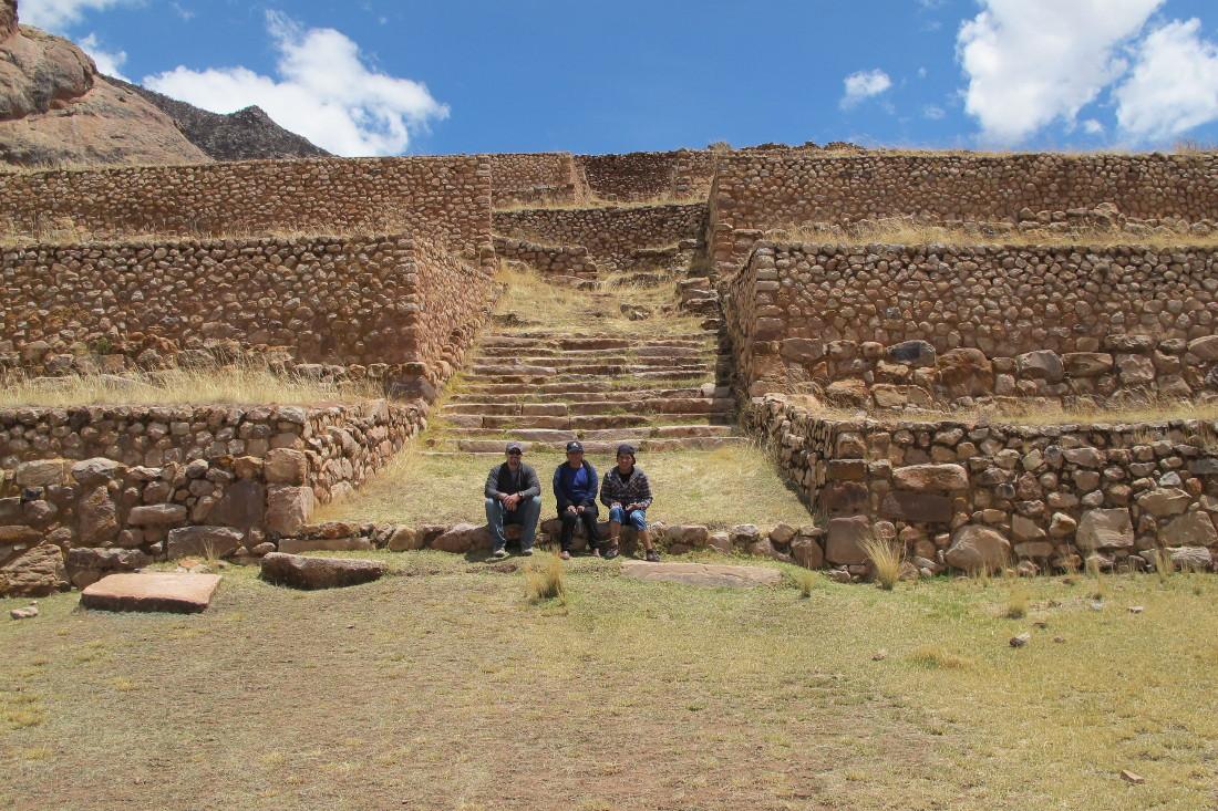 Jim, Virginia, and Dario at the Formative Period site of Pukara.