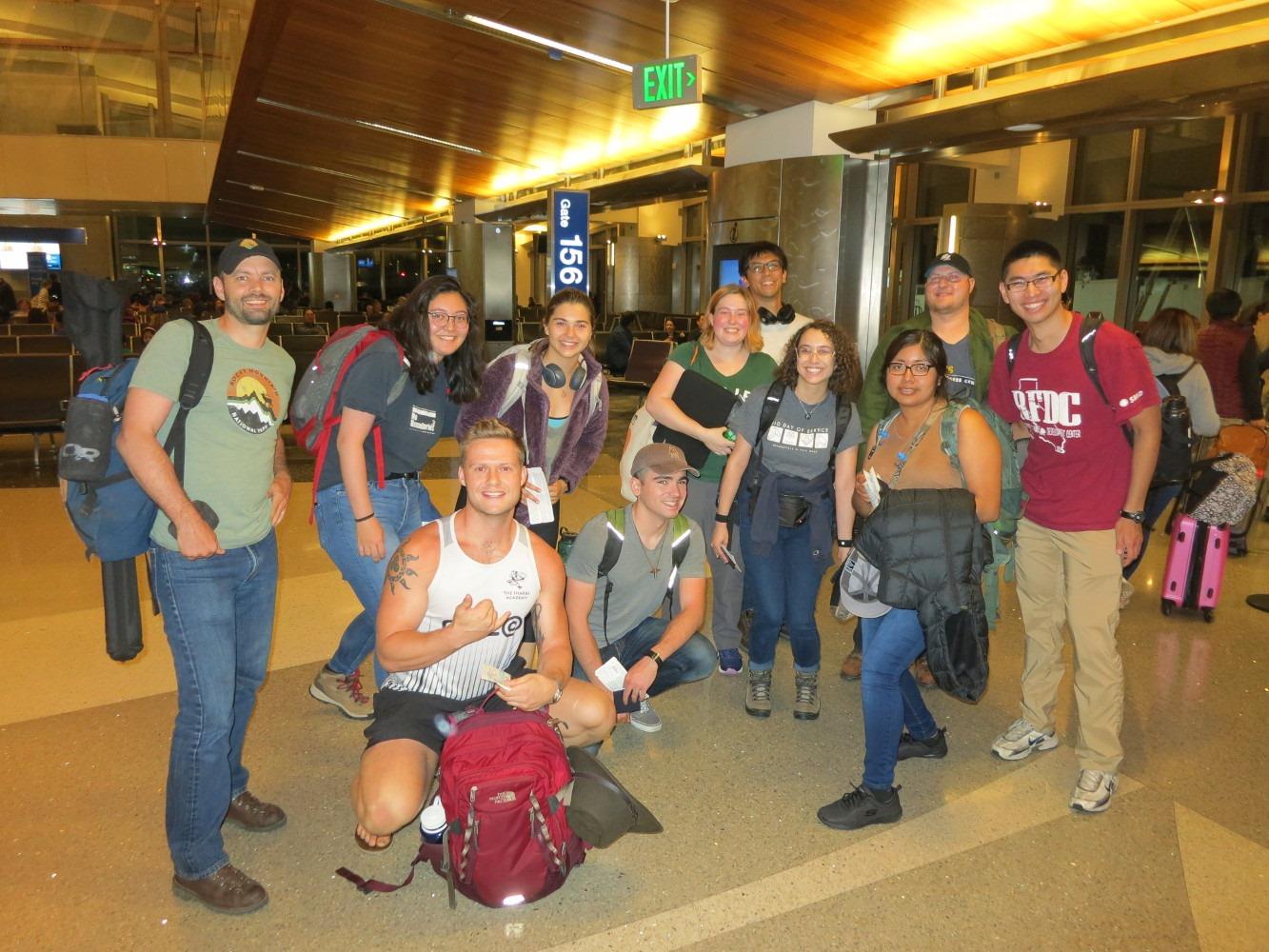 2019 UC Davis field school students leaving the U.S. for Peru.