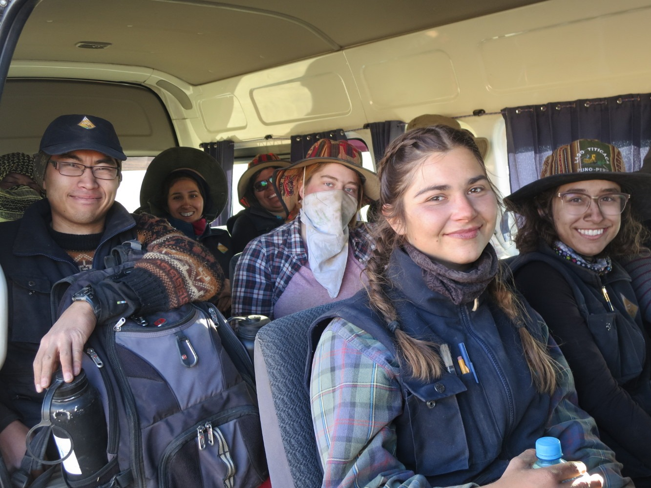 At the end of each day, we pile into the van an head to field camp in the town of Totorani.