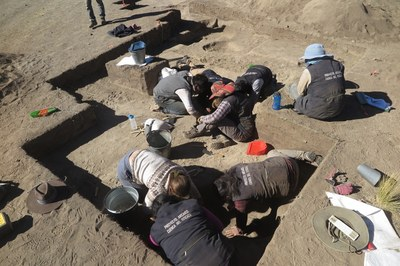 By week two, everyone was excavating archaeological features.
