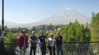 first stop--Arequipa, Peru to acclimatize at 2500 meters (8000 ft) for two nights