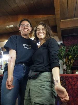 In Cusco, Esme and Izzy got tatoos of some of their findings at Wilamaya Patjxa.