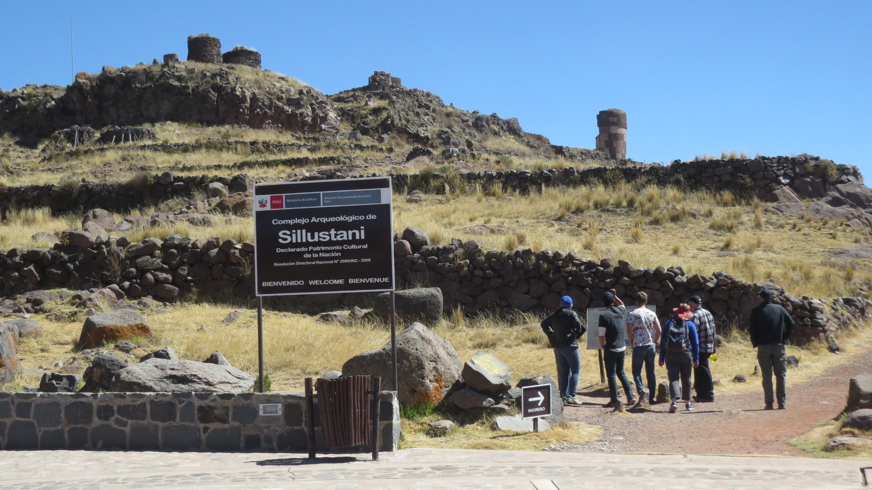 On weekends we took field trips. The first one was to Sillustani, an Inca Period chullpa, or burial tomb site.