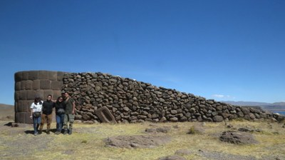 The Inca chulpas were constructed with ramps. Kusy, Julio, Martha, and Dany.