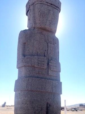 The Ponce monolith at Tiwanaku.