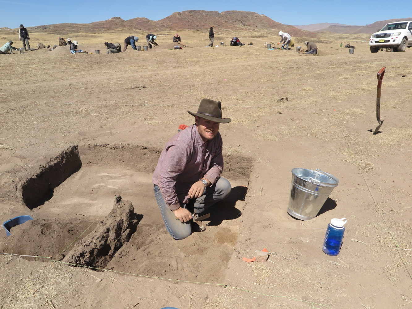 When we find stains, we expand the excavations as Ian is doing here.